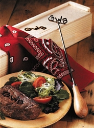 Custom Branding Iron with Cedar Gift Box