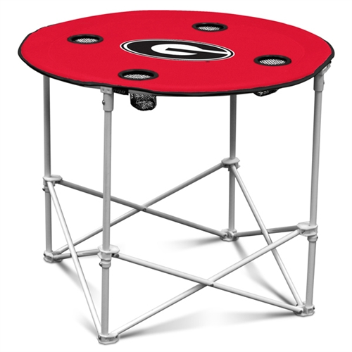 Round Portable Tailgate Table Nfl And Ncaa