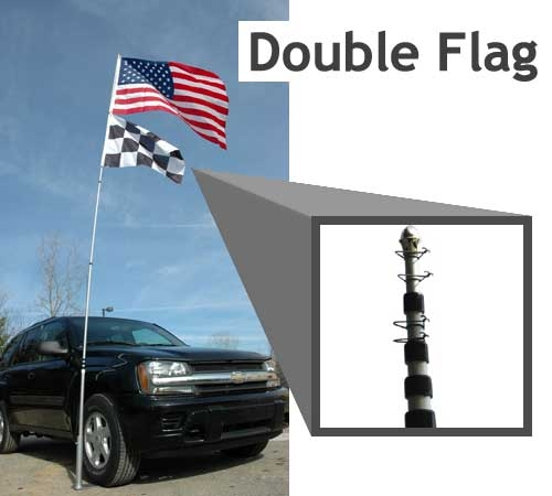 20 Telescoping Flag Pole Only