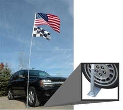 20' telescoping flagpole with stand