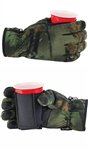 The Ultimate Pair of Drinking Gloves with Stow Away Coozie -Camo