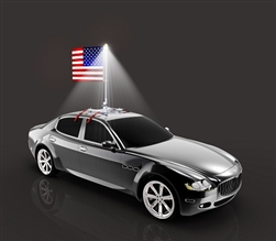 The Beast! - Premium Car Flag Pole w/ USA Flag