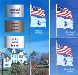20' Heavy Duty TopFlight Flag Pole