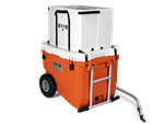 The RollR 60 Quart All-Terrain Cooler on Wheels w/ Bike Kit