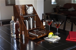 The Madison Wooden Table Top Bar with NFL Logo