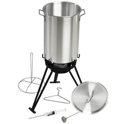 Eastman #37069 7 Pc Stainless Steel Turkey Fryer Set