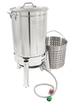For the Big Birds - Bayou Clasic 44 Qt. Stainless Steel Turkey Fryer Kit