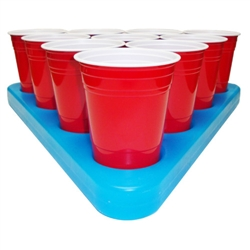 Freezable Beer Pong Rack