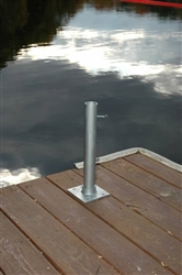 Dock/Deck Mount for Lightweight Telescoping Flagpole