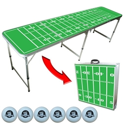 "Tailgate Pong ""Football Field"" Table - 8 Ft."