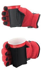 Ultimate Pair of Drinking Gloves with Stow Away Coozie - Sale on Medium Size!