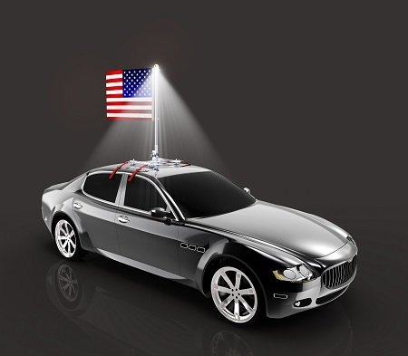 The Beast Premium Car Flag Pole W Usa Flag