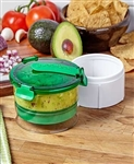New! - The Guac-Lock  - Keeps Guacamole from Browning