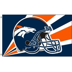 3x5ft Denver Broncos HIGH High Quality Helemt Flag
