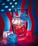 Patriotic Lite Cubes - 3 pack - CLOSEOUT