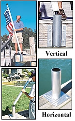 "Dock/Deck mount for TopFlight 20"" Flagpole"