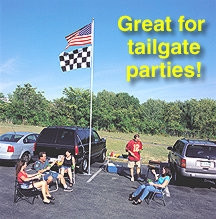Heavy Duty 20' TopFlight Flag Pole Ultimate Tailgate Package